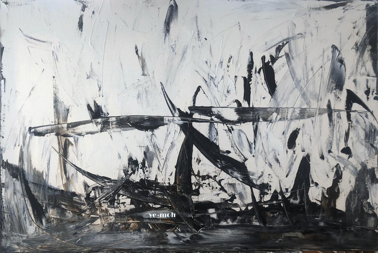 'birds' nest' minimalist acrylic painting by Julia Scanlon
