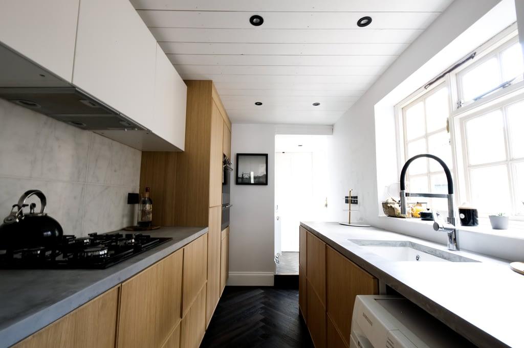 concrete wood marble kitchen
