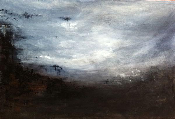 moody large acrylic painting